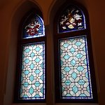 Close up of stained glass windows