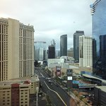 Grey sky over Vegas.