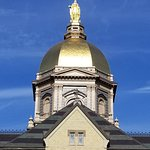 The famous golden dome atop the Main Building on Notre Dame campus