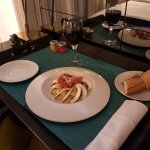 Room service - tight fit of tray to table
