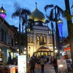 View of Sultan mosque on the Arab street back drop