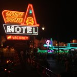 Cars Land loaded with neon