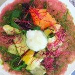 carpaccio de veau et ses legumes croquants