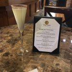 Sparkling cocktails menu