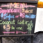 Sugar Cane Juice and Cocnut Water vendor