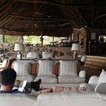 Lounge area next to bar