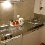 Kitchenette (no utensils / dining other than what's shown)