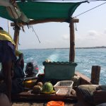 Safari Blue tour (booked via hotel) on a local boat where they serve fresh fruit and coconuts