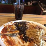 The burrito that was so good it disappeared so quickly!  Great place for lunch and dinner. Authe