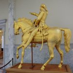 Hand Carved Statue Of George Washington, Covered In Goldleaf