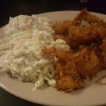 coconut shrimp and mac salad