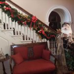 Our antique Santa is ready to greet you during the holidays.