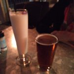 Pina Colada and draft beer