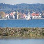 Rheinaue - view of Lindau harbour
