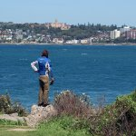 Looking back at Manly Beach from McKillop Park, Freshwater Lookout