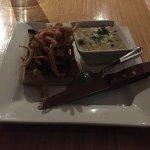 AAA Flat Iron Steak Sandwich With Corn Chowder