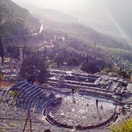 Temple of Apollo from above the amphitheatre