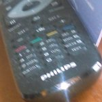 Dusty TV remote control