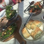Meat (Scottsdale Pork Belly) and Vegetarian (Spinach & Ricotta Pastry) Share Fare