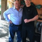 Chef / Owner Jeffery Thompson with yours truly Martin Cohen (left)