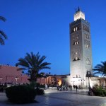 Koutoubia Mosque near Jemaa El Fna square.