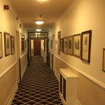 Loved these corridors with Staffordshire history prints.