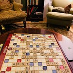 A game of Scrabbles in the Living Room!