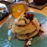 Delicious pancakes - well presented and very filling.
