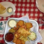 Combo Platter with Beer Battered Fish, Shrimp, and Scallops