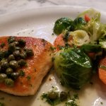 Salmon with Lemon and Capers and Steamed Veggies