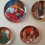 Decorative Gone with the Wind wall plates in the bedroom