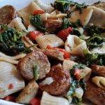 Rigatoni with sausage and broccoli rabe