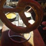 margarita, pretzel and feta cheese whip