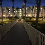 walkway to the rooms