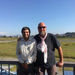 Shekhar and myself at the airport. He arranged all my flights.