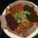 All choices on one piece of injera.