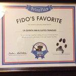 Award for fido friendly hotel