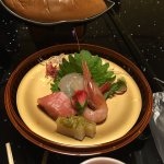 Very delicious dinner with Kobe steak.