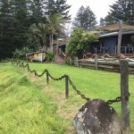 Bedrock Tea Gardens lawn and old lighter