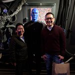 With a Blue Man after the show