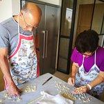 making cavatelli, fresh pasta