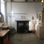 recreated living quarters in the gallery exhibition centre