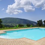 Our big pool with panoramic view of Monte Subasio