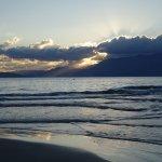 Beach just before sunrise