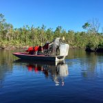 Photo taken of another one of Captain Jack's airboats as we left the dock.