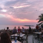 the german bakery - waves restaurant terrace at sunset