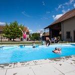La piscine chauffée en été