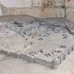 A maquette of Jerusalem in the past, found at the museum