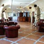 The bar and lobby area are quaint, with a nautical decor.