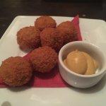 Bitter balls with Dijon mustard